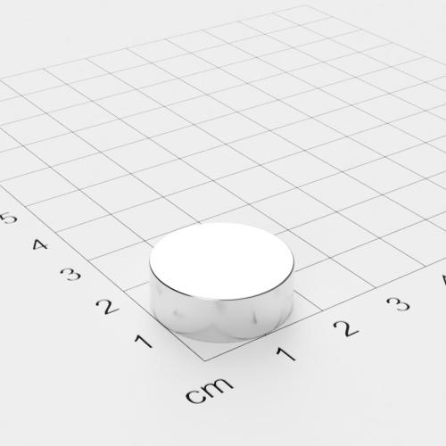 Neodym Scheibenmagnet, 20x7mm, vernickelt, Grade N45