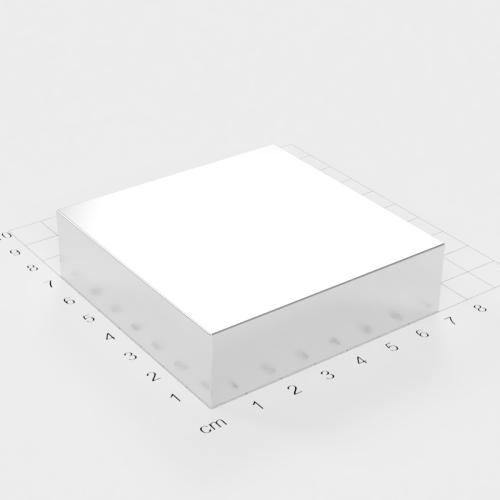 Neodym Quadermagnet, 70x70x20mm, vernickelt, Grade N52