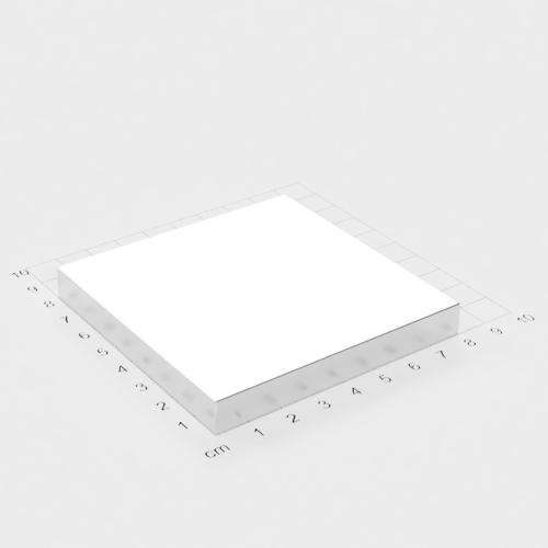 Neodym Quadermagnet, 80x80x10mm, vernickelt, Grade N52