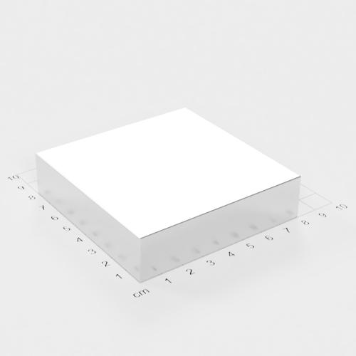 Neodym Quadermagnet, 80x80x20mm, vernickelt, Grade N52