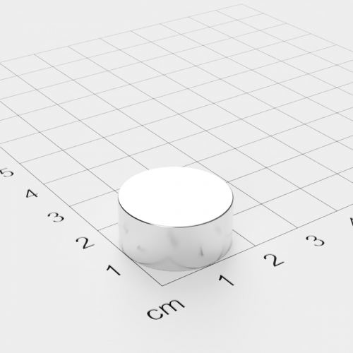 Neodym Scheibenmagnet, 20x9mm, vernickelt, Grade N42