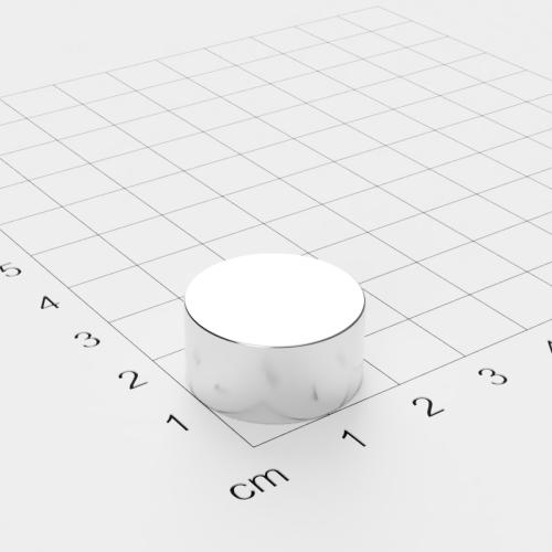 Neodym Scheibenmagnet, 20x10mm, vernickelt, Grade N52