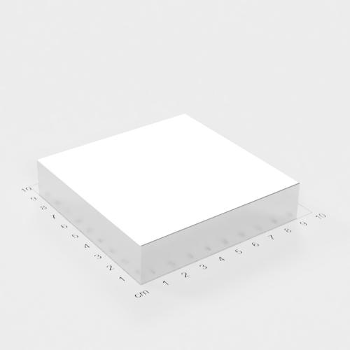 Neodym Quadermagnet, 90x90x20mm, vernickelt, Grade N52