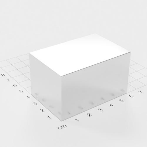 Neodym Quadermagnet, 60x40x35mm, vernickelt, Grade N52