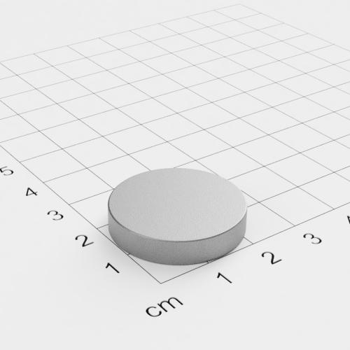 SmCo Scheibenmagnet, 25x5mm, vernickelt, Grade S280