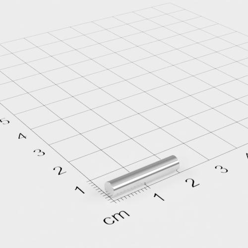 Neodym Stabmagnet, 4x20mm, vernickelt, Grade N45