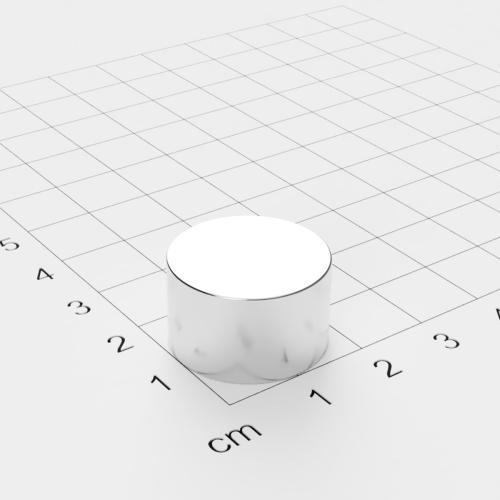 Neodym Scheibenmagnet, 20x12mm, vernickelt, Grade N42