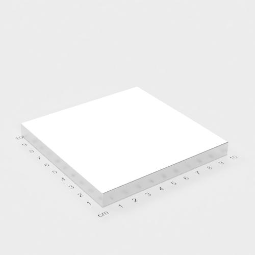 Neodym Quadermagnet, 100x100x10mm, vernickelt, Grade N45