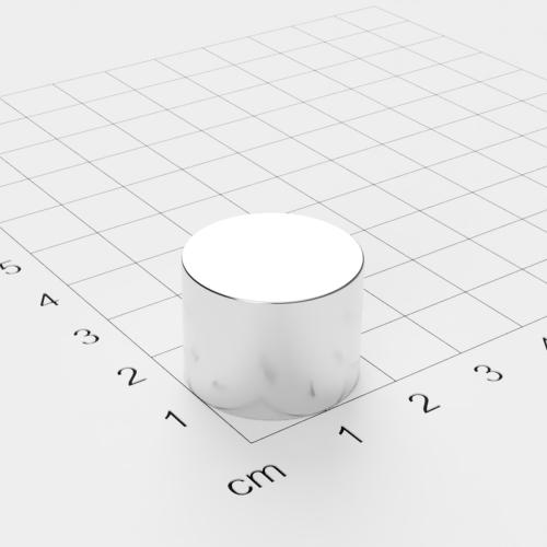 Neodym Scheibenmagnet, 20x15mm, vernickelt, Grade N42