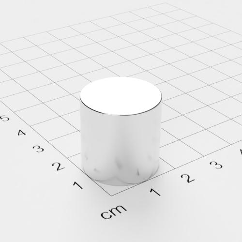 Neodym Scheibenmagnet, 20x20mm, vernickelt, Grade N42