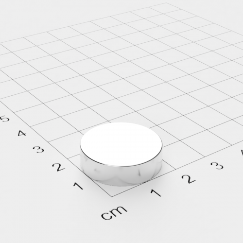 Neodym Scheibenmagnet, 21x6mm, vernickelt, Grade N35SH