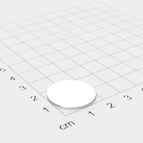Neodym Scheibenmagnet, 22x1mm, vernickelt, Grade N42