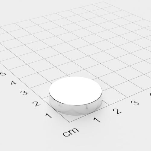 Neodym Scheibenmagnet, 22x5mm, vernickelt, Grade N45