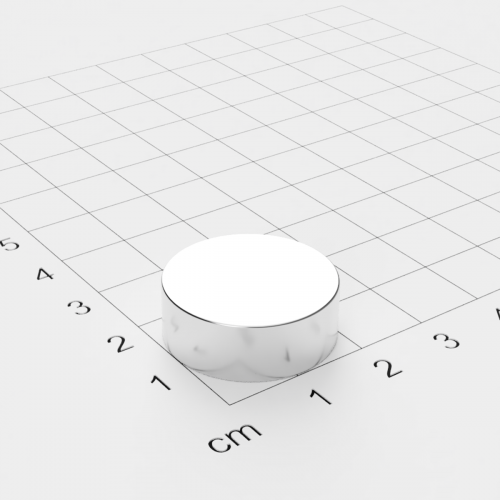 Neodym Scheibenmagnet, 22x8mm, vernickelt, Grade N42