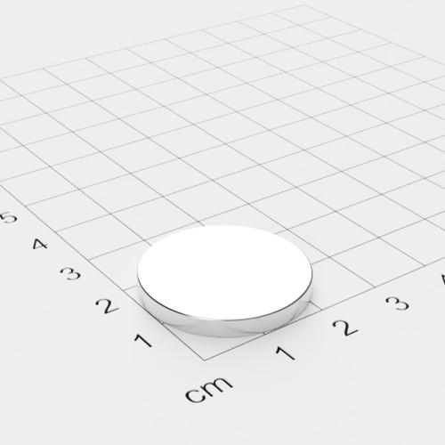 Neodym Scheibenmagnet, 25x3mm, vernickelt, Grade N45