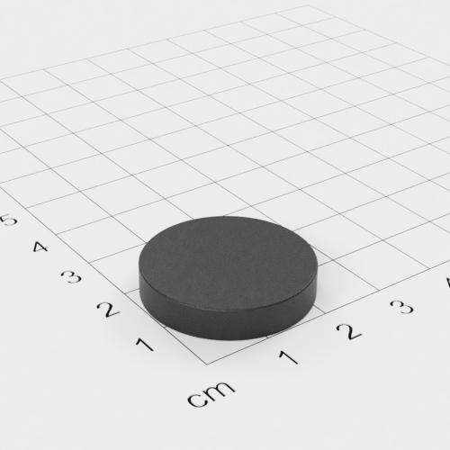 Ferrit Scheibenmagnet, 25x5mm, Grade Y30