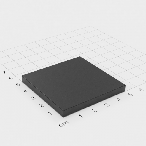 Ferrit Quadermagnet, 50x50x5mm, Grade Y30