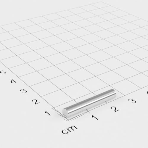 Neodym Stabmagnet, 4x25mm, vernickelt, Grade N45