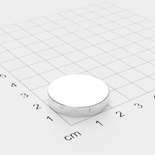 Neodym Scheibenmagnet, 25x5mm, vernickelt, Grade N38