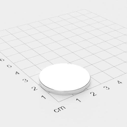 Neodym Scheibenmagnet, 30x3mm, vernickelt, Grade N45