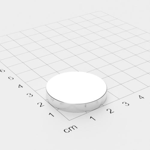 Neodym Scheibenmagnet, 30x5mm, vernickelt, Grade N45