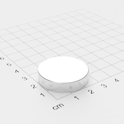 Neodym Scheibenmagnet, 30x7mm, vernickelt, Grade N42