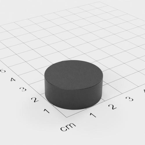 Ferrit Scheibenmagnet, 25x10mm, Grade Y30