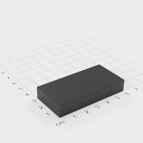Ferrit Quadermagnet, 60x30x10mm, Grade Y30