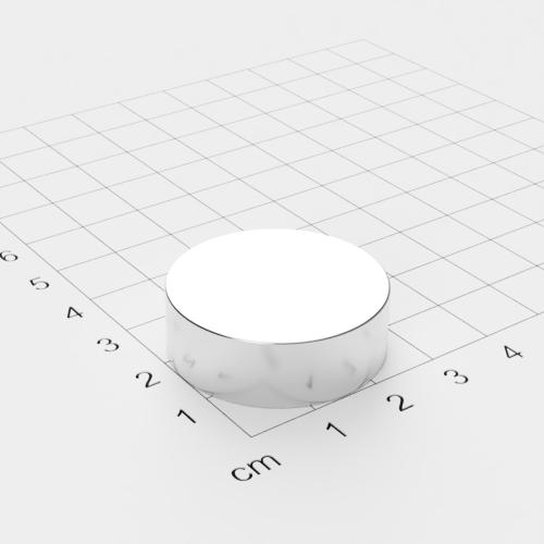 Neodym Scheibenmagnet, 30x10mm, vernickelt, Grade N42