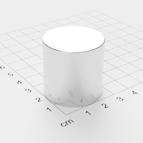 Neodym Scheibenmagnet, 30x30mm, vernickelt, Grade N42