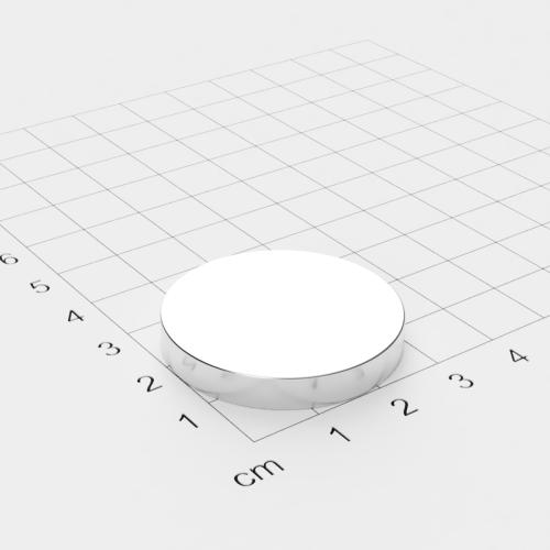 Neodym Scheibenmagnet, 33x5mm, vernickelt, Grade N32
