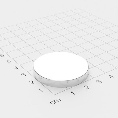 Neodym Scheibenmagnet, 35x5mm, vernickelt, Grade N45