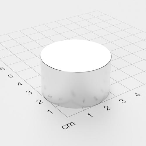 Neodym Scheibenmagnet, 35x20mm, vernickelt, Grade N42