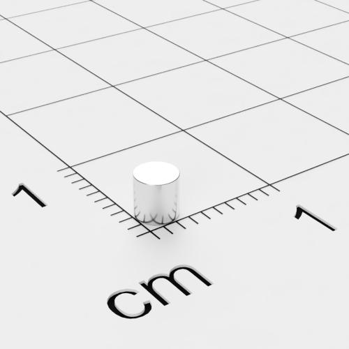 Neodym Scheibenmagnet, 3x3mm, vernickelt, Grade N45