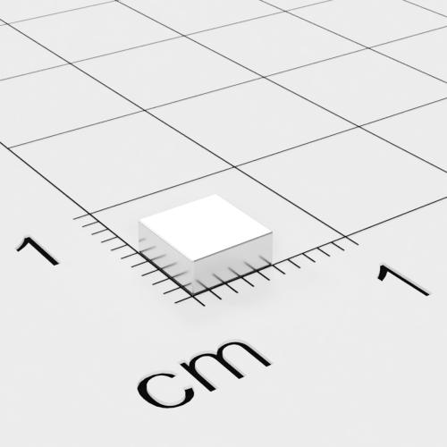 Neodym Quadermagnet, 5x5x2mm, vernickelt, Grade N52