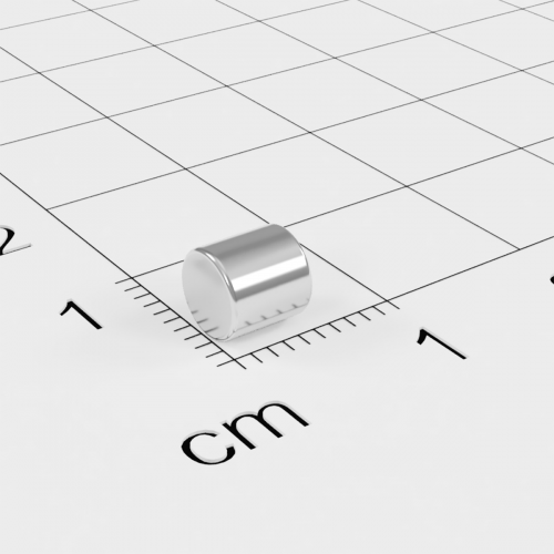 Neodym Stabmagnet, 5x5mm, vernickelt, Grade N35H