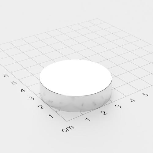 Neodym Scheibenmagnet, 40x10mm, vernickelt, Grade N45