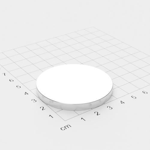 Neodym Scheibenmagnet, 50x5mm, vernickelt, Grade N52