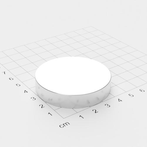 Neodym Scheibenmagnet, 50x10mm, vernickelt, Grade N52