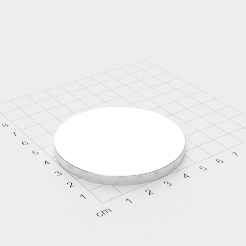 Neodym Scheibenmagnet, 60x5mm, vernickelt, Grade N42