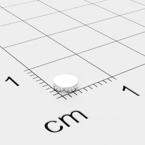 Neodym Scheibenmagnet, 4x1mm, vernickelt, Grade N45