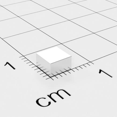 Neodym Quadermagnet, 5x5x3mm, vernickelt, Grade N52