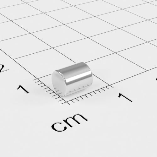 Neodym Stabmagnet, 5x6mm, vernickelt, Grade N35H