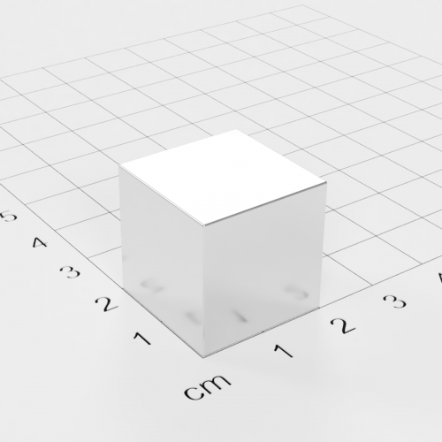 Neodym Würfelmagnet, 20x20x20mm, vernickelt, Grade N52