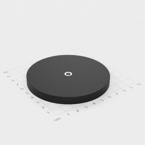 Magnetsystem mit Innengewinde, D=88mm, H=8.5mm, gummiert, Grade N35, Gewinde M6