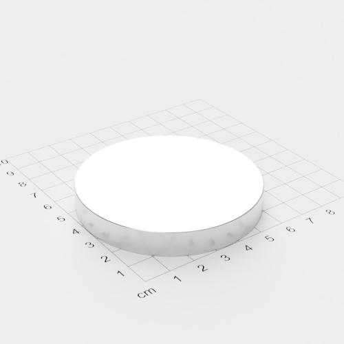 Neodym Scheibenmagnet, 70x10mm, vernickelt, Grade N45