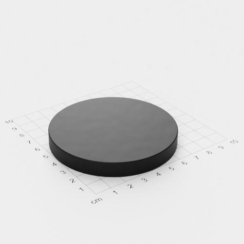 Neodym Scheibenmagnet, 80x10mm, schwarze Epoxyd-Beschichtung, Grade N45