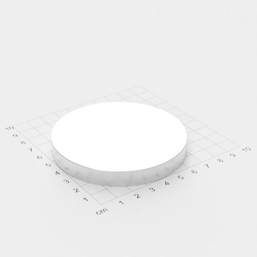 Neodym Scheibenmagnet, 80x10mm, vernickelt, Grade N45