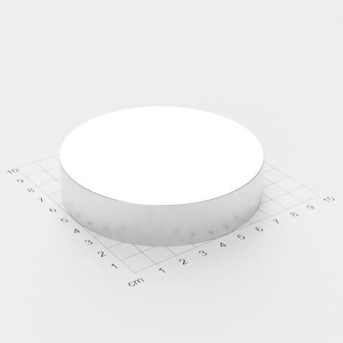 Neodym Scheibenmagnet, 90x20mm, vernickelt, Grade N52