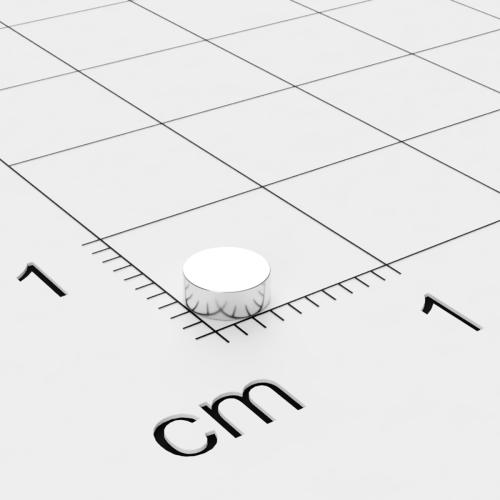 Neodym Scheibenmagnet, 4x1.5mm, vernickelt, Grade N45